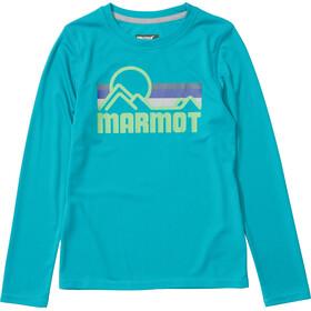 Marmot Windridge Top z długim rękawem Chłopcy, enamel blue